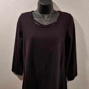Embellished black t-shirt